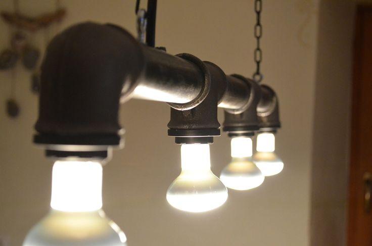 """Designer Leuchte """"ODIN"""" Industriedesign aus Stahlrohr  von Industrial.KO.Design auf DaWanda.com Industrial.KO.Design ist eine registrierte Marke."""