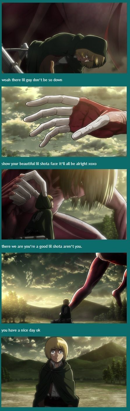 Attack on Titan ~~ It's a wonder he wasn't clinically insane after episode 5 :: Armin Arlert