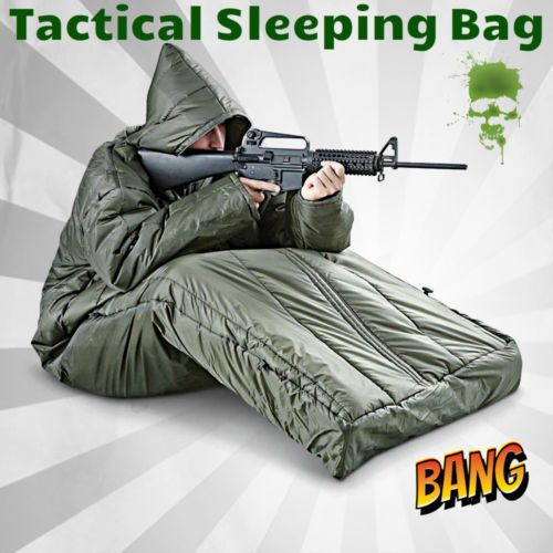 Tactical Sleeping Bag and Jacket Arms Prep SHTF Camo Camping Olive Drab Military | Sporting Goods, Outdoor Sports, Camping & Hiking | eBay!