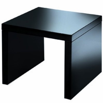 Levv High Gloss Side Table End Table - Black £79.99