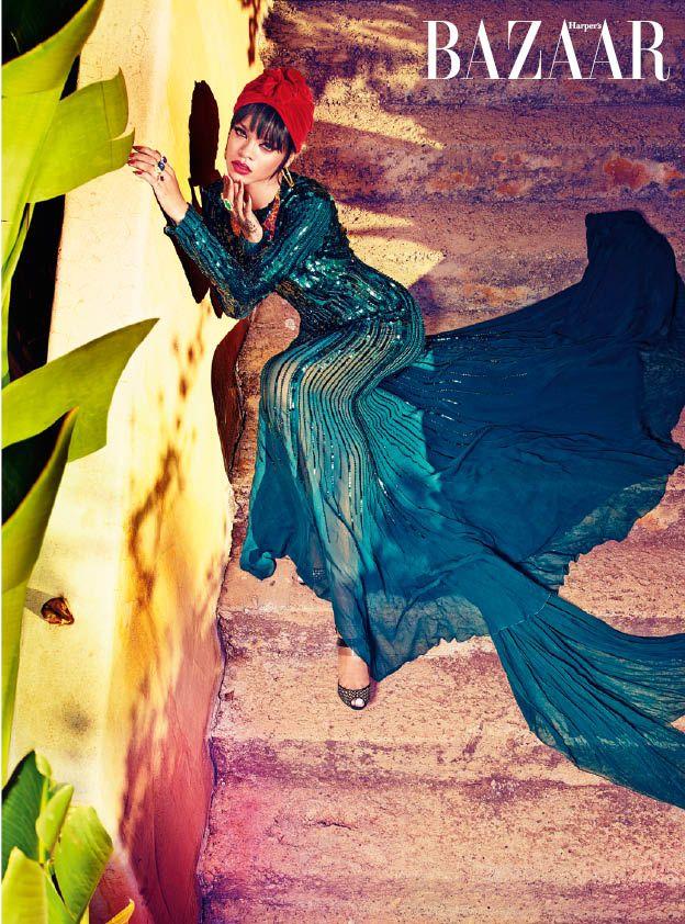 Rihanna Covers Harper's Bazaar Arabia - theFashionSpot