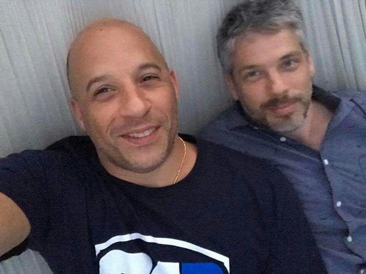 Vin Diesel And His Wife Vin Diesel and his twi...