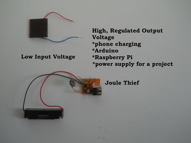 Picture of Cheap Voltage Regulated Joule Thief power supply/charger