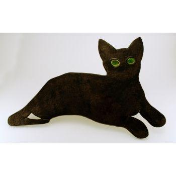 Czarna kicia,kot, cat, koty, cats, ceramika,ceramika, rękodzieło, artystyczna, szkliwo, hand made, prezent