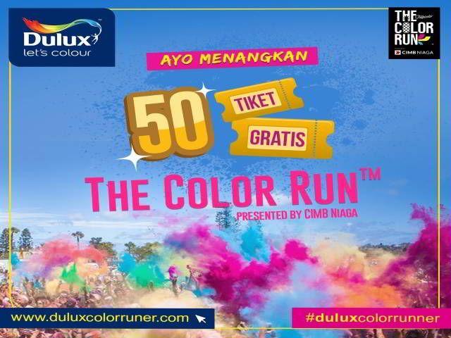 Kompetisi Dulux Color Runner Berhadiah 50 Tiket The Color Run - Dulux Indonesia sering berbagi tips seputar warna, inspirasi serta dekorasi rumah