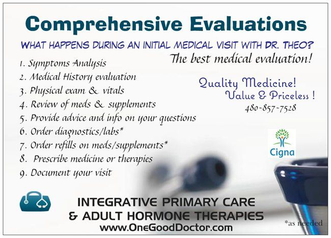 Quality Medical Care Initial Visit  Therapies Available