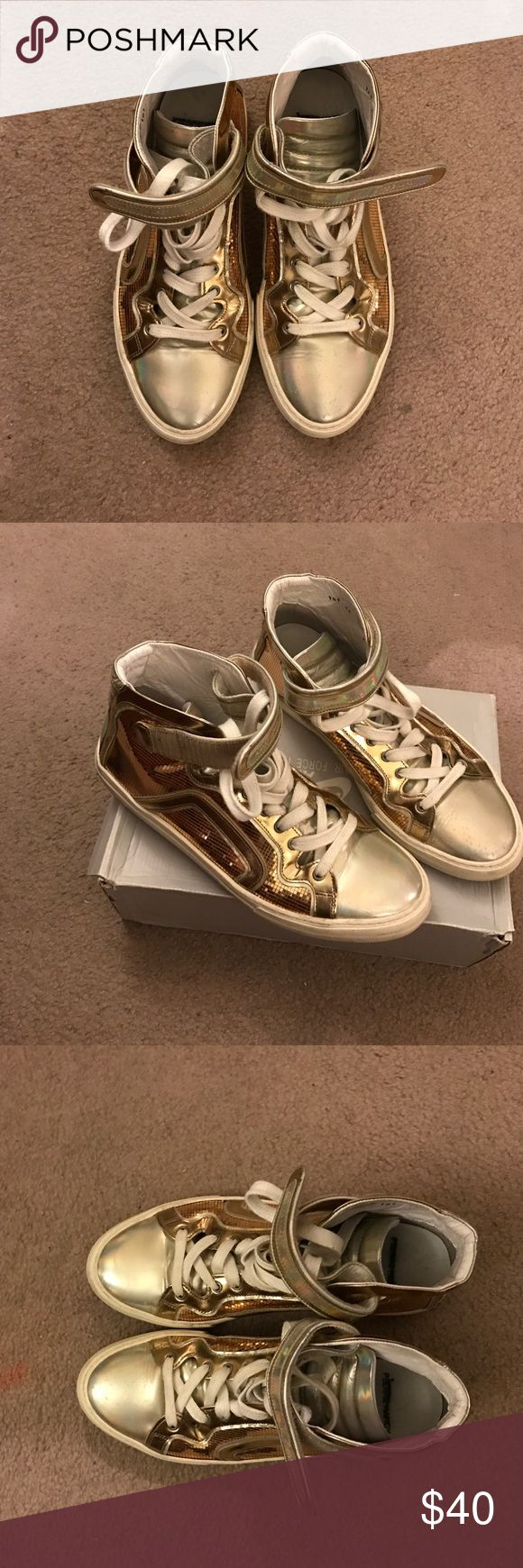 🔥🔥Gold Pierre Hardy, good condition Gold Pierre Hardy Sneakers, good condition Pierre Hardy Shoes Sneakers