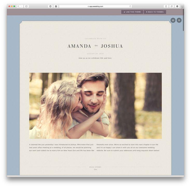 'Abigail' wedding website theme at eWedding.com