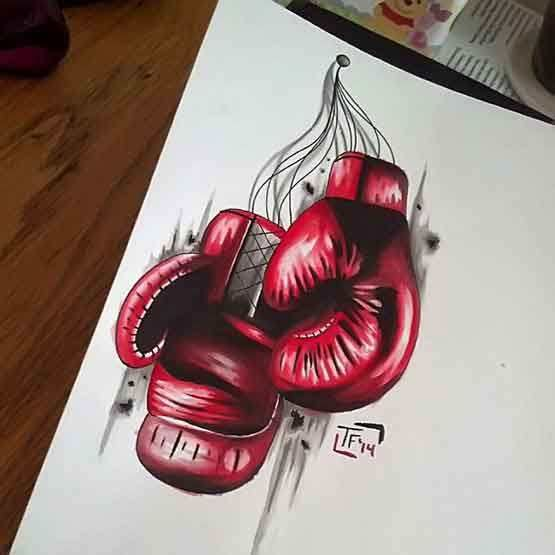 designs Boxing Glove Tattoos