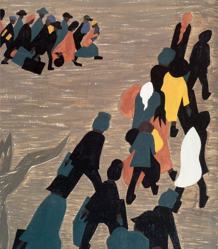 Jacob Lawrence: Another one of my top go to artists. I love the way he uses minimal line and definition but creates such powerful pieces.