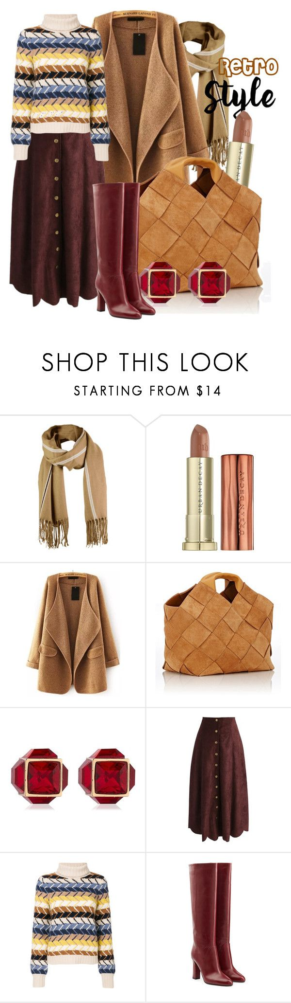 """""""Retro Style"""" by baratheon-girl ❤ liked on Polyvore featuring Urban Decay, WithChic, Loewe, Vita Fede, Chicwish, Chloé and Diane Von Furstenberg"""
