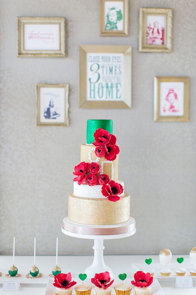 12 Gorgeous Metallic Wedding Cakes - Belle The Magazine