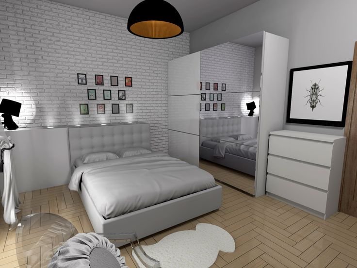 Biała sypialnia.