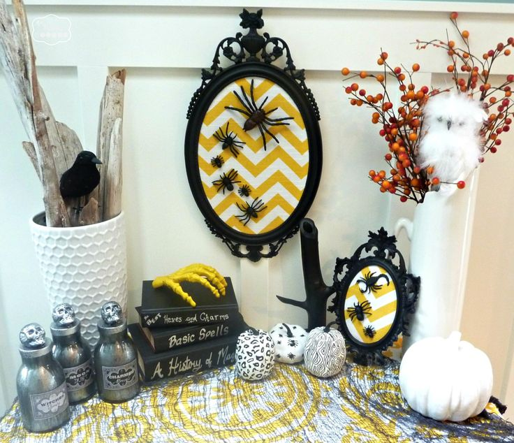 20 spooktacularly elegant diy halloween decor ideas - Halloween Projects Diy