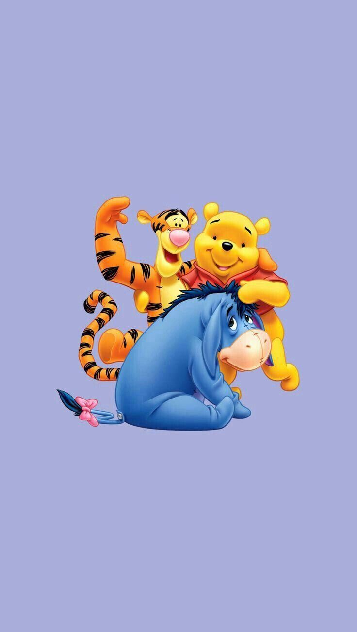Tigger Winnie Pooh And Eeyore Cartoon Wallpaper Iphone Cute Cartoon Wallpapers Disney Wallpaper