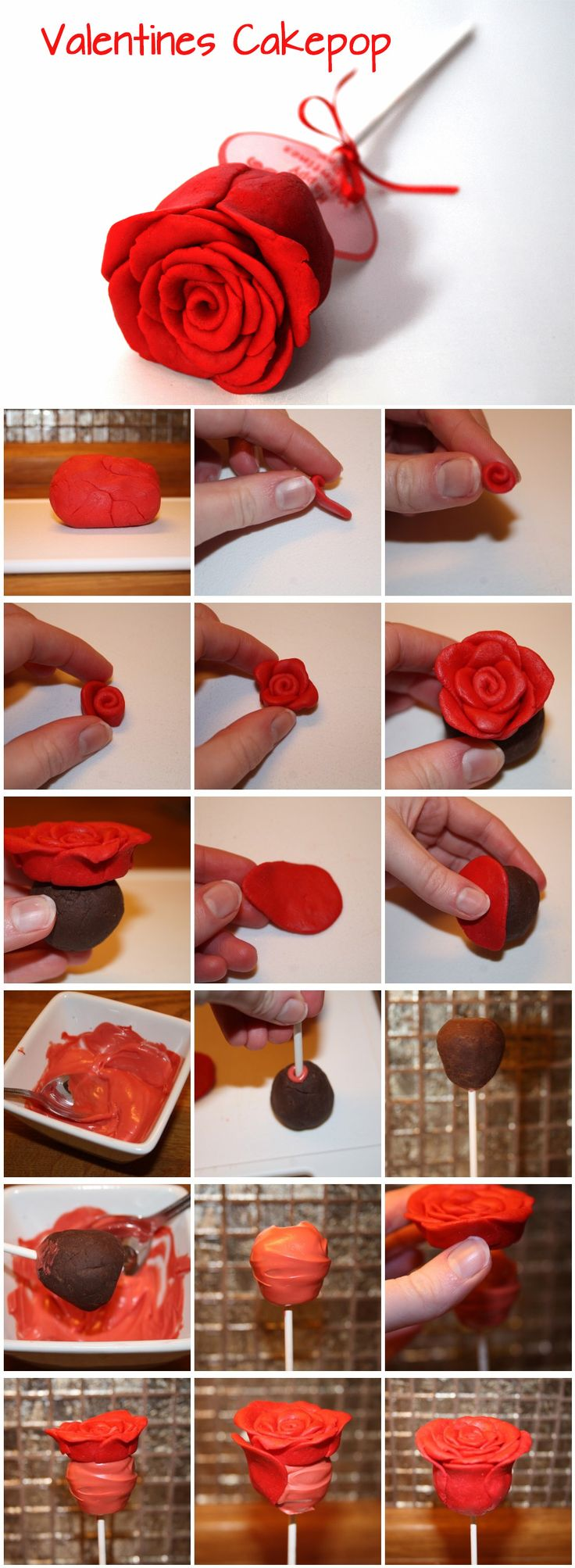 Valentines Cake pop - For all your Valentine Day cake decorating supplies, please visit http://www.craftcompany.co.uk/occasions/valentines-day.html