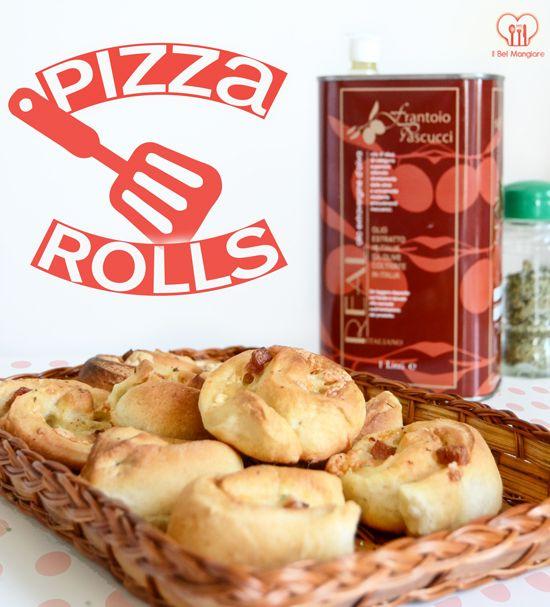 Pizza rolls: rotelle di pizza prosciutto e mozzarella