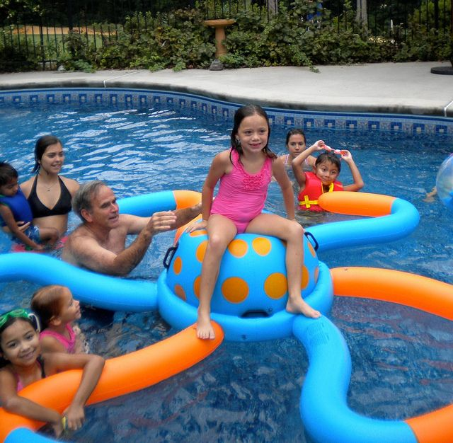 Pool Ideas For Kids backyard landscaping ideas for kids with small pool Under The Sea Party Kids Pool Party Ideas By Lesliedegner Via Flickr Kynlees 12th Pinterest Kid The Ojays And Pools