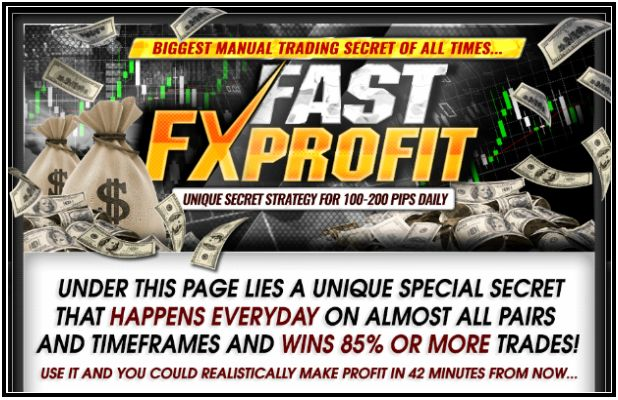 You're the type of person to really get a tremendous success you want to learn the secrets used by the real forex trader, and you are really eager to take advantage of the simple and effective strategies to create a greater flow of interest cases. Then read steps followed by the creator to make huge money as a profit at any time. Here Fast FX Profit will change your life forever profit, so you will finally get good