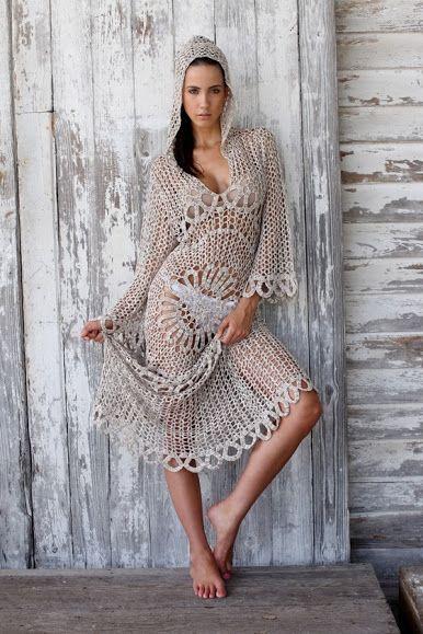 Выдающийся крючком: Вязание крючком платье