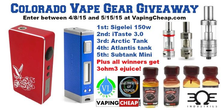 Enter the Colorado Vape Gear Giveaway at VapingCheap.com got to be in it to win it