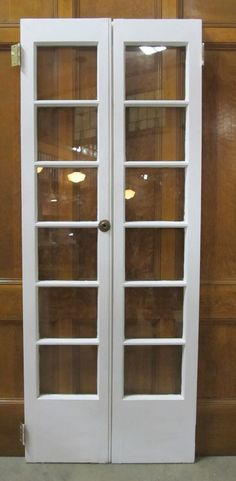 narrow french door would make a nice replacement for the window in the bedroom or a double door entry to the master suite - French Door