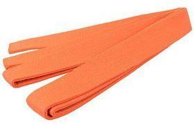 Pas do karate SMJ orange. Pas do kimon, o szerokości ok. 4 cm, obszyty materiałem bawełnianym. Przeznaczone do tradycyjnego dwukrotnego owinięcia wokół talii i dwukrotnego związania. #pasdokimon #karate #sportywalki