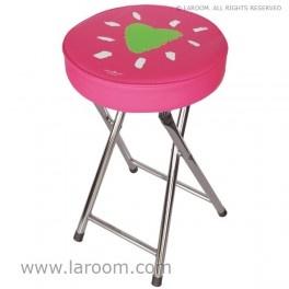 """Laroom - Taburete plegable rosa """"mirar"""" - Laroom diseña los productos para Baño más bonitos del mundo - www.laroom.com (producto diseñado y fabricado por Laroom con ilustración de anna llenas)"""