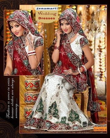 Wedding Lehengas - Wedding Lehenga Choli For Bride  For more products & details please visit our website.  http://www.zenamart.com/index.php?categoryID=293