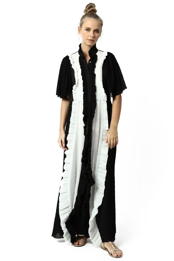 NIGHT DRESS WITH PLISE %100 RAYON