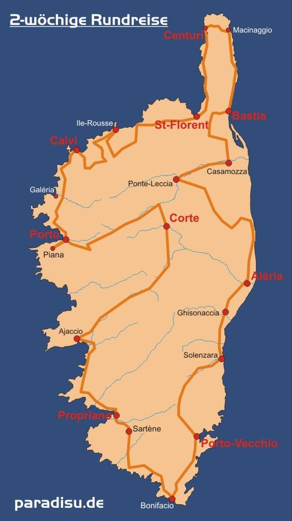 Korsika Rundreise 2 Wochen