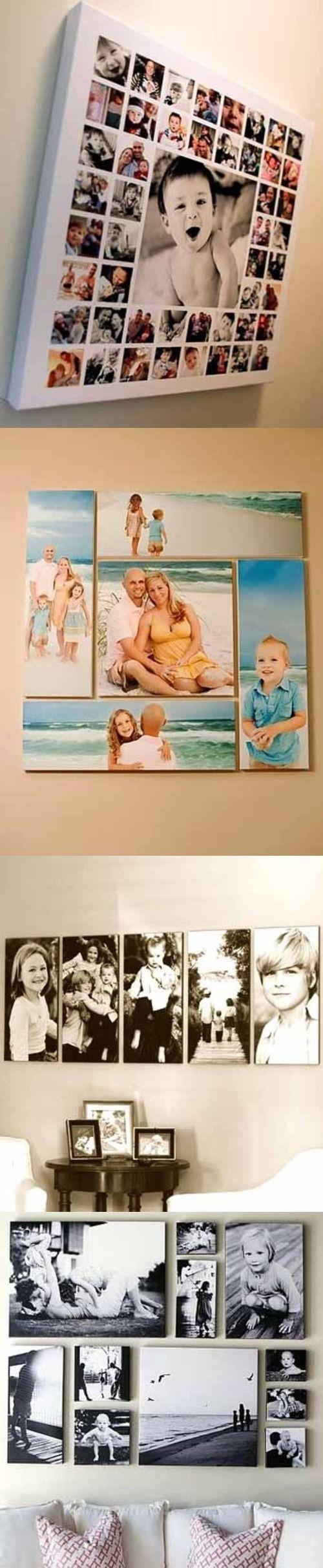 Идеи куда повесить семейные фотографии