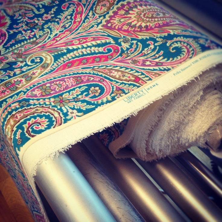 Have you heard? We've launched our very own range of #LibertyPrint furnishing fabrics