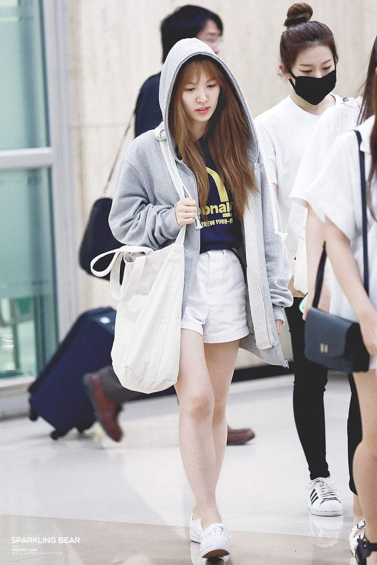 Other red velvet s airport fashion celebrity photos onehallyu - Red Velvet Wendy Airport Fashion 150707 2015 Kpop