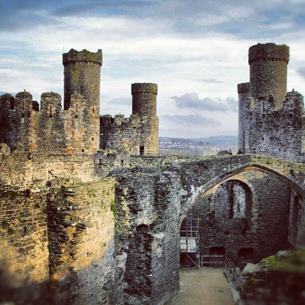 Conwy Castle, Conwy, Wales. (Instagram photo by @Alexandra Cook (Alexandra Cook) | Statigram)