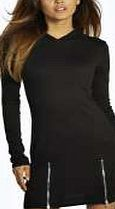 boohoo Hoody Zip Dress - black azz08633 Smash the sportswear trend in this hooded sweat dress - its perfect for off-duty dressing! Dare to take it to the dance floor in barely-there heels , a metallic clutch bag and hoop earrings . http://www.comparestoreprices.co.uk/dresses/boohoo-hoody-zip-dress--black-azz08633.asp