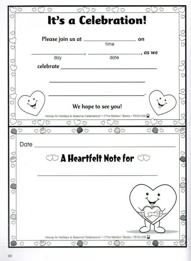 72 best February images on Pinterest Kids valentines, Preschool - celebration letter