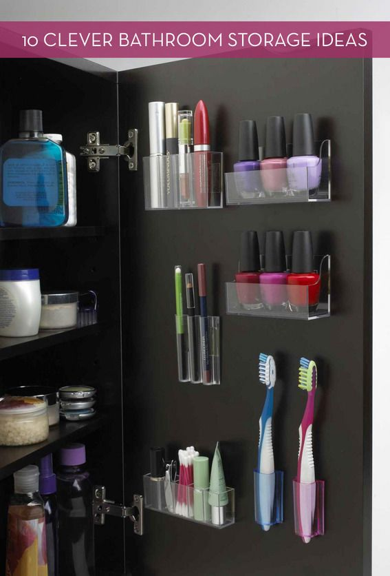 Clever Bathroom Storage & Organization Ideas