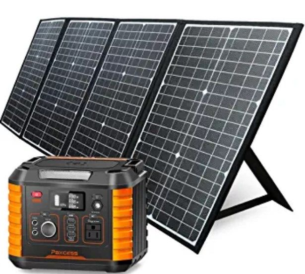 Paxcess 330w Portable Power Station With 120w Solar Panel Portable Solar Panels Portable Power Power Station