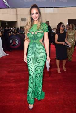 Shannon De Lima arrives at the 18th Annual Latin Grammy Awards in Las Vegas on Nov. 16, 2017. - Lester Cohen/Getty Images