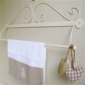 Cream French Scroll Towel Rail | Bliss and Bloom Ltd
