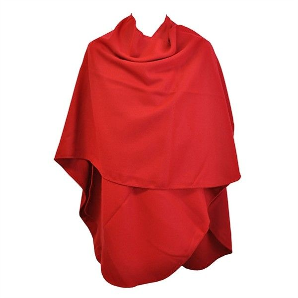 Superbe Grand Poncho Rouge Toutacoo Made in France