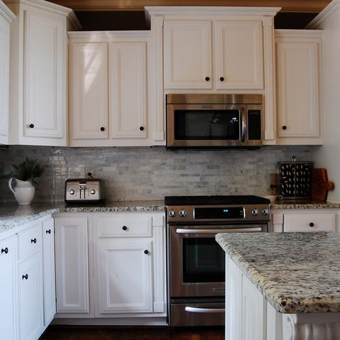 Microwave Over Stove/cabinets/backsplash/counter