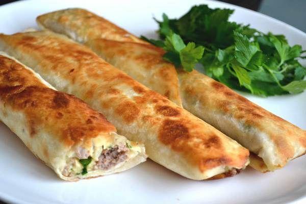 Сытный лаваш с начинкой в духовке — Bermix Cook