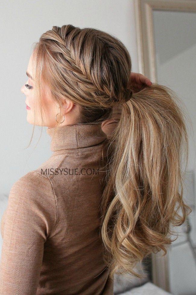 Fischschwanz Franzosisch Zopf Pferdeschwanz Frisuren Neuefrisuren Frisurentrends Frisurentre French Braid Ponytail Hair Styles Ponytail Hairstyles Tutorial