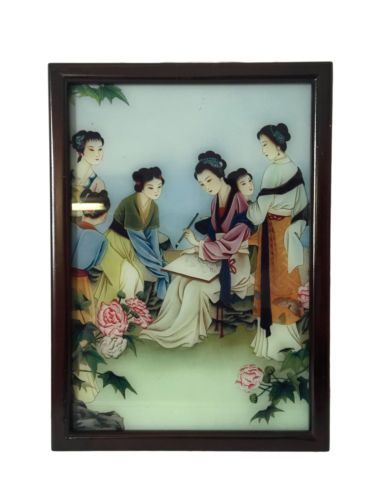 Chinese Reverse Paintings Calligraphy Princesses in Art, Direct from the Artist, Paintings | eBay