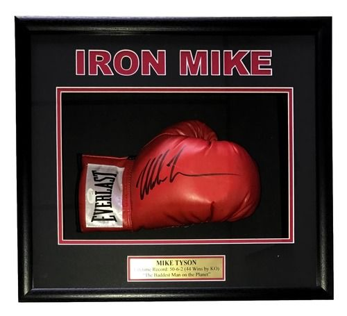 Iron Mike Tyson Signed Red Everlast Boxing Glove Shadowbox JSA ITP