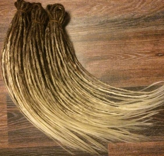 FULL SET double ended synthetic dreads extension OMBRE brown to blonde 29inches  | Health & Beauty, Hair Care & Styling, Hair Extensions & Wigs | eBay!