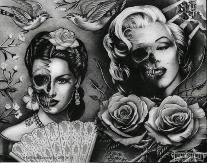Marilyn Monroe♥ Day of the dead..: Tattoo Ideas, Dead Art, Marilyn ...