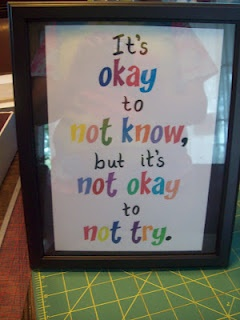 Hanging this in the classroom